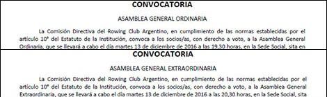 Convocatorias Asambleas Generales 2016